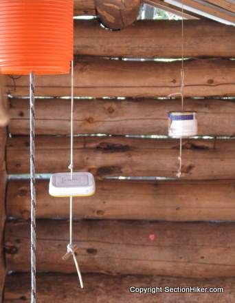 Mouse-Proof Food Hangs at Moose Mountain Shelter, New Hampshire Appalachian Trail-