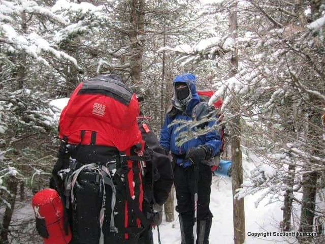 On strenuous winter day hikes, I carry a full overnight backpacking load
