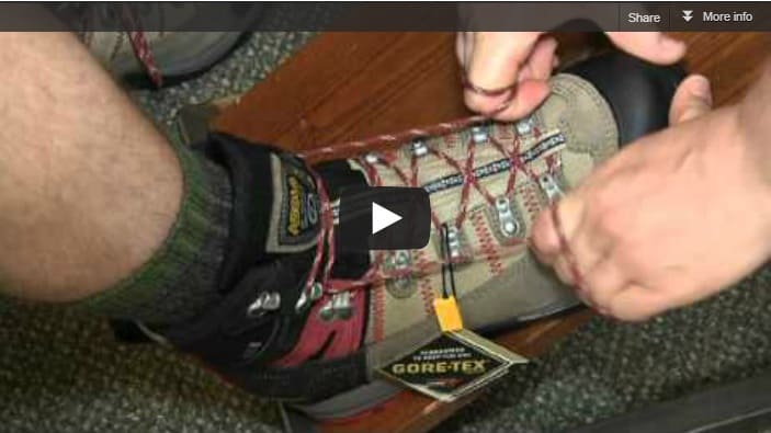 Hiking Boot Lacing Techniques Section Hikers Backpacking