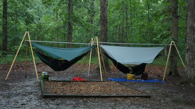 stand the tarp inexpensive ultimate diy with easy camping hang hammock tutorial handy car guide