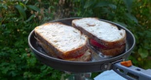 Frying Grilled Cheese and Tomatoe Sandwiches