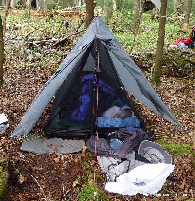 An Inner net tent is available which is attached to the tarp using dowels and can be staked using the tarp stakes