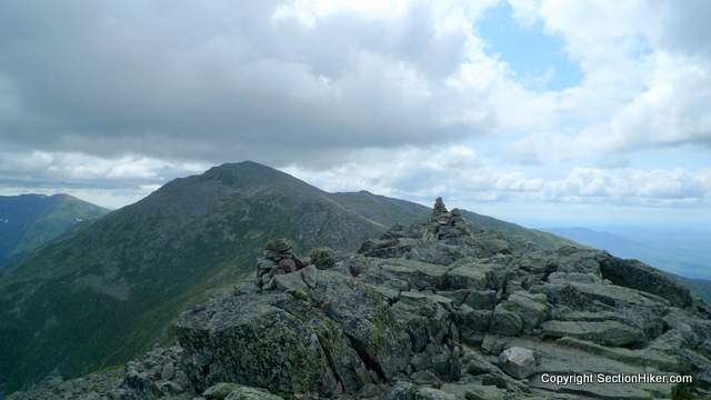 Cairns on the Summit of Madison. Mt Adams and Mt Jefferson beyond.