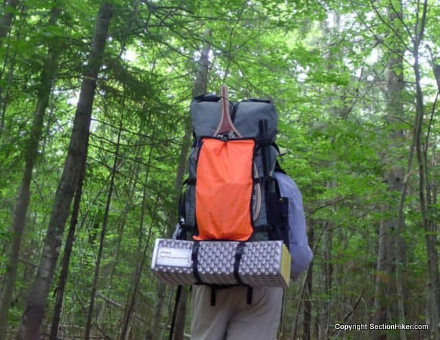 Great hikes the moriah brook trail in the wild river for Backpacking fishing pole