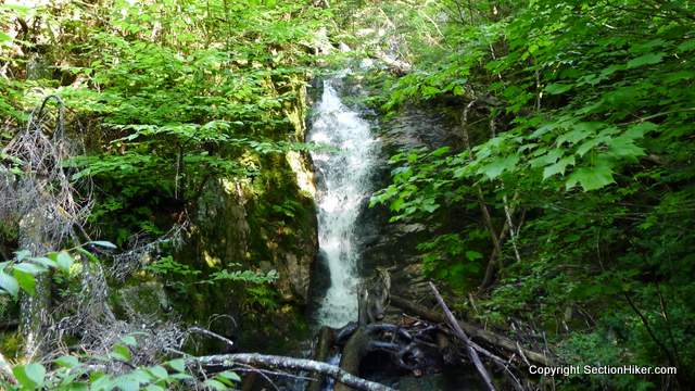 The Peboamauk Waterfall. Peboamauk means winter's home, an approapriate description of Ice Gulch.