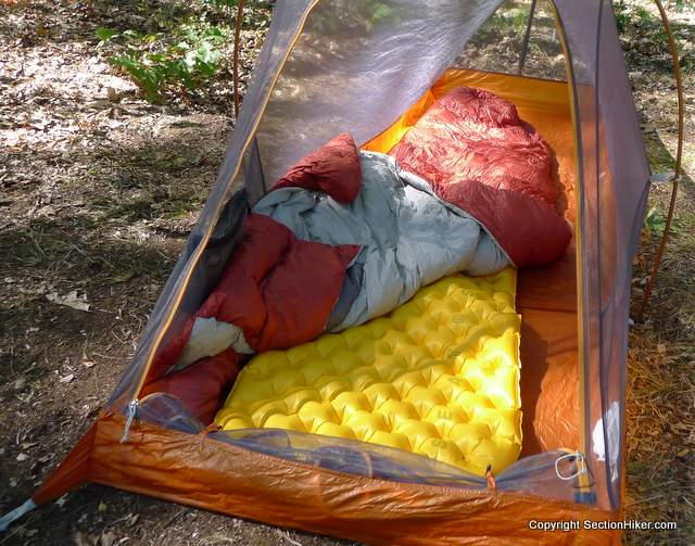 The Sea-to-Summit Ultralight Inflatable Sleeping Pad has a dimpled surface that is especially comfortable for side sleepers.