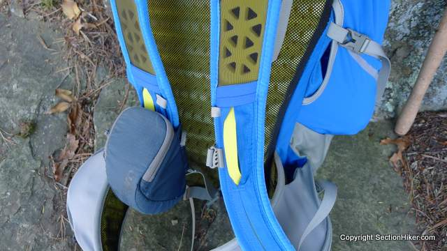 A perforated foam backpanel helps dry perspiration while the aggressively precurved hip belt helps lock in load to hip transfer.