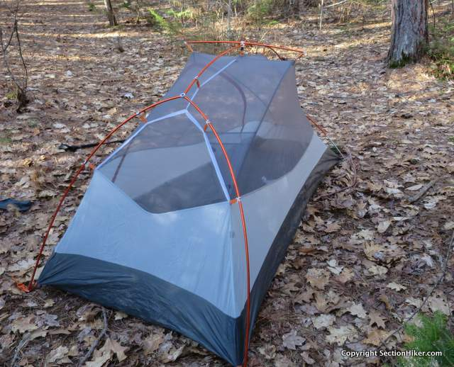 The Big Agnes Coppur Spur UL1 has plenty to internal space with vertical side walls that improve livability