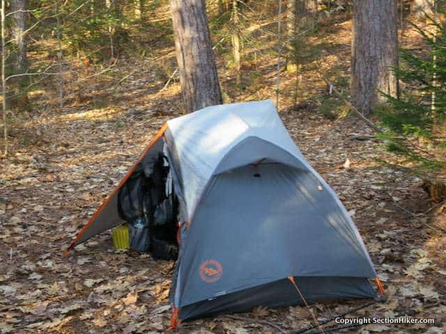 The Copper Spur UL1 has plenty of vestibule space to store a large backpack without blocking easy entry and exit to the inner tent