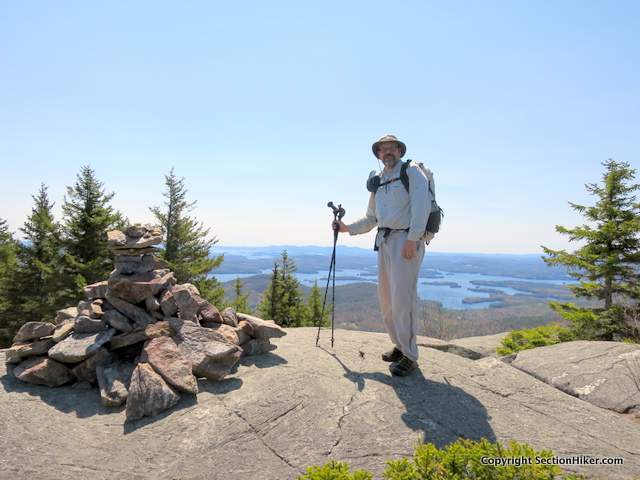 Philip on the summit of Mt Percival