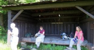 The Province Pond Lean-to is a great place to observe nature with friends