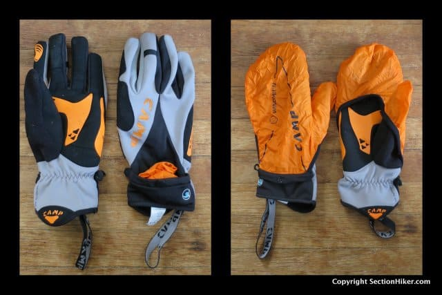 CAMP USA G Comp Wind Gloves are Softshell Gloves that come with an optional outer wind shell that is stored in a pocket on the top of the wrist.