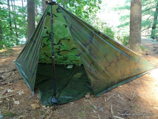 """Rectangular and square tarps with 90 degree corners can be pitched in weather resistant """"shapes."""""""