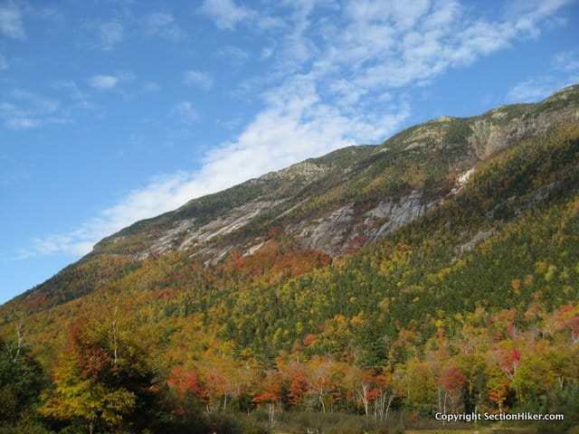 Webster Cliff is on the east side of Crawford Notch