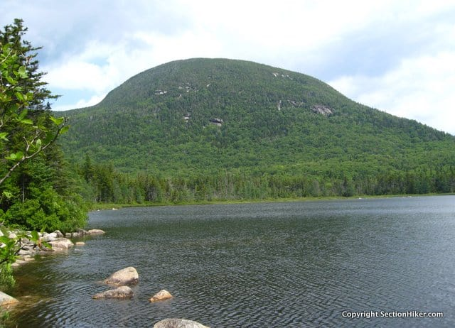 Northeast Cannonball Mountain seen from Lonesome Lake below