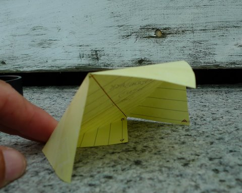 Paper Model of an Adirondack Wind Shed