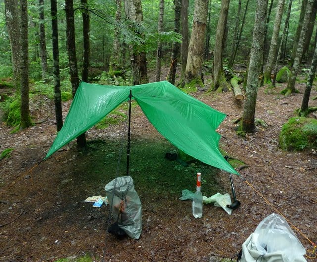 Tarp Pitch at Hurd Lean-to