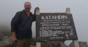 Philip Werner at the summit of Mount Katadhin