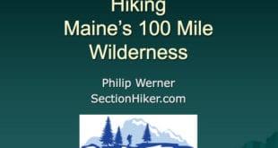 Hiking Main's 100 Mile Wilderness