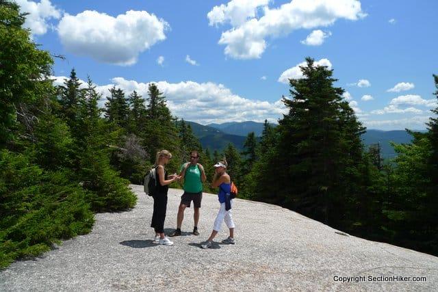 Hikers on the Mount Pemigewasset Ledges