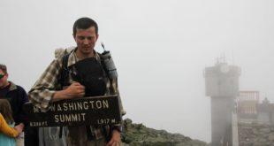 Martin at the Washington Summit Sign in the Mist