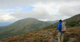 Martin Approaching Mt Jefferson on the Appalachian Trail, New Hampshire