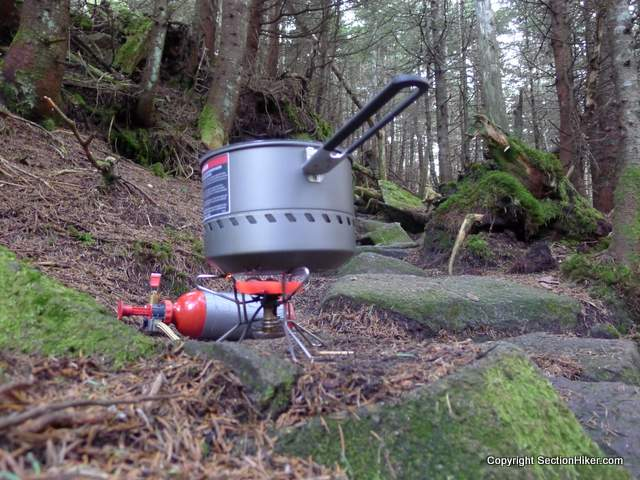 Red Hot MSR Whisperlite Stove and Reactor Pot