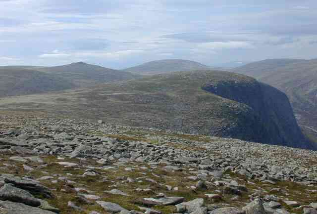 View west north west from Broad Cairn