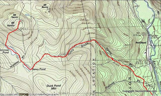 Mt Nancy Bushwhack Route