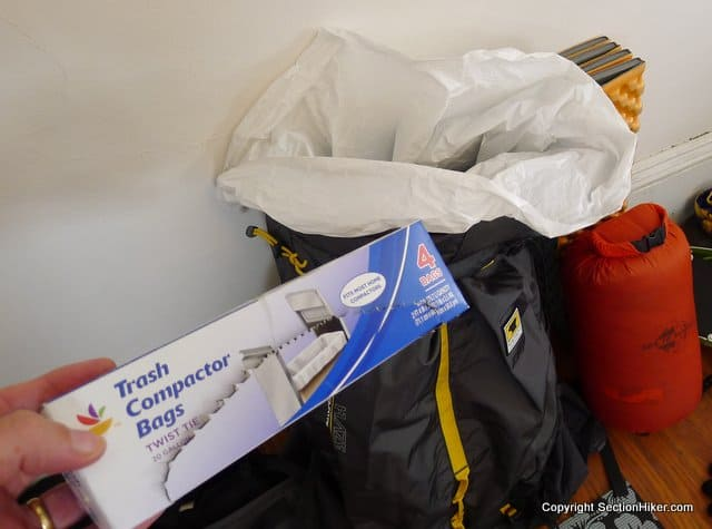 How to Keep Your Backpacking Gear Dry with Trash Compactor Bags ...
