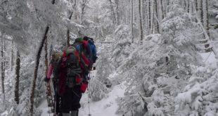 Hiking in Winter Requires Teamwork