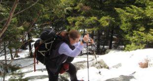 Bending Forward Over Trekking Poles Wastes Energy