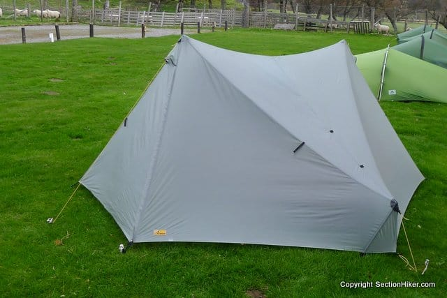 Raised Fly Ends on the Tarptent Stratospire 2
