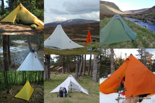 Ultralight Pyramid Shelters