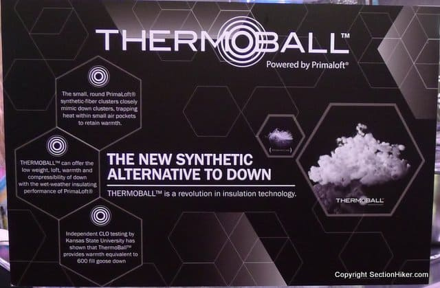 Thermoball Synthetic Insulation Vs Goose Down Section