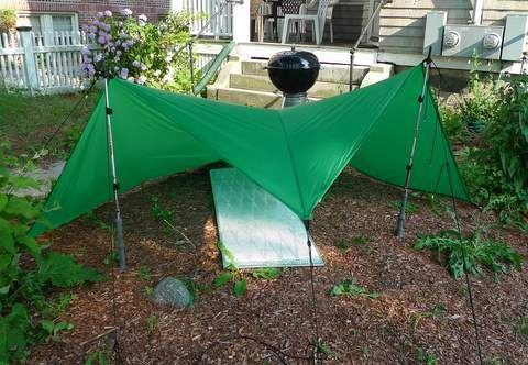 Half Tetra Wedge Cover Tarp Pitch