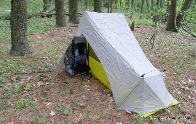 New Gear Vestibule (open) & Sierra Designs Flashlight 1 UL Tent - New and Improved - Section ...