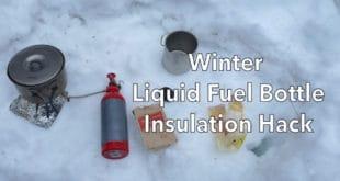White Gas Bottle Insulation Hack