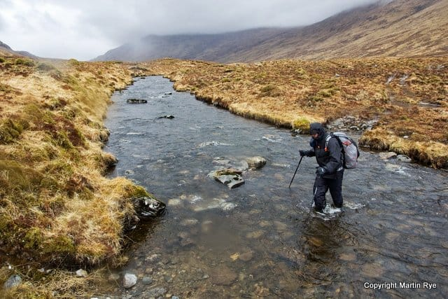 Philip Werner at a river crossing in Scotland