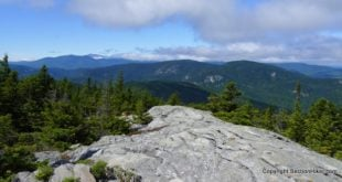 View of Mt Washington from the Speckled Mountain Summit