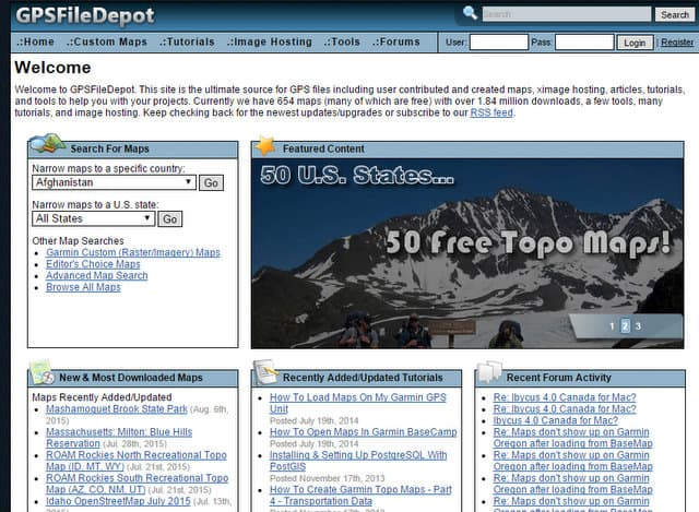 Gpsfiledepot Home Page Free Gps Topo Maps For Garmin Gps Receivers