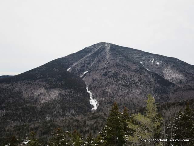 Landslide scarred peak of Mt Passaconaway