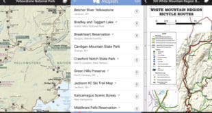Maplets includes freely downloadable maps from city, state, and national parks, bike trails, hiking trail, mass transit routes, ski resorts, you name it.