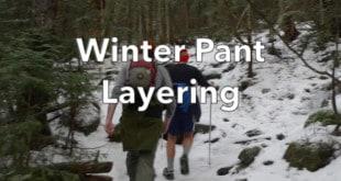 Winter Hikers wearing Short Pants