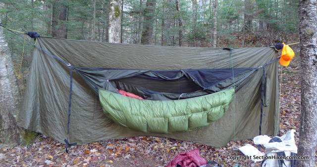enlightened equipment revolt underquilt on a warbon  blackbird enlightened equipment revolt hammock underquilt review   section      rh   sectionhiker