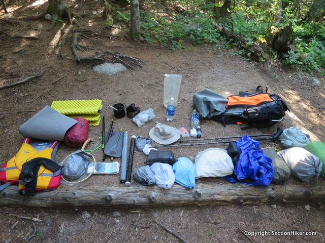 I like to lay out my gear in camp before I pack it back up in the morning. I have a mental check list I go through to make sure I haven't left anything behind.