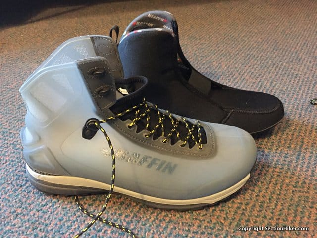 The Baffin Borealis Boot has a translucent TPU shell and separate insulated  liner