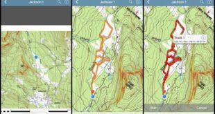Three screenshots of a PDF Map in Avenza Map