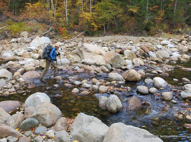 If the cairned stream crossing is too difficult, find a better one