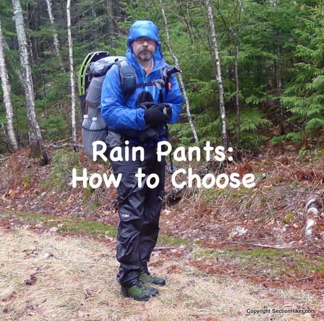 Rain Pants How to Choose